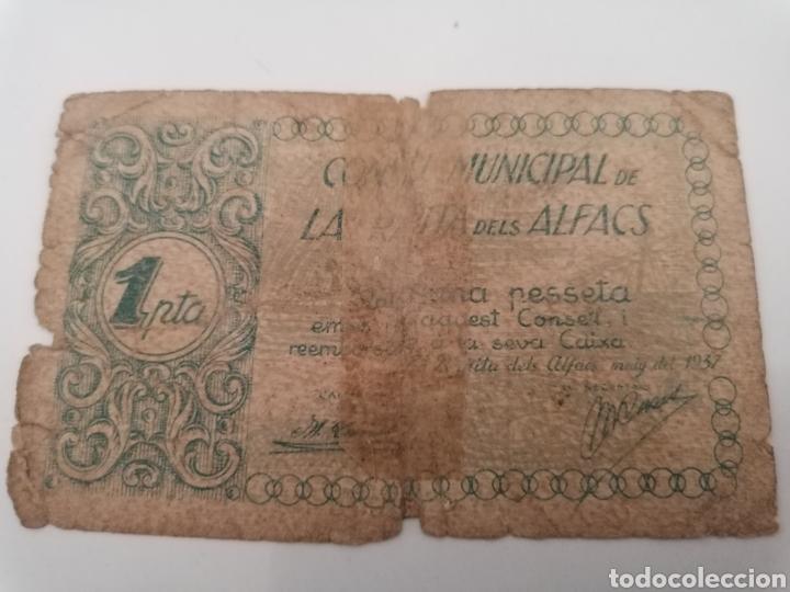 LA RAPITA DELS ALFACS. TARRAGONA. 1 PESSETA (Numismática - Notafilia - Billetes Locales)