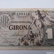 Billetes locales: GIRONA. 1 PESSETA. Lote 217515376