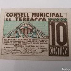 Billetes locales: TERRASSA. BARCELONA. 10 CENTIMS. Lote 217516147