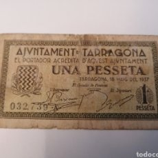 Billetes locales: TARRAGONA. AJUNTAMENT. 1 PESSETA. Lote 218148766