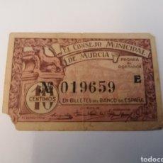 Billetes locales: MURCIA. 10 CENTIMOS. Lote 218156060