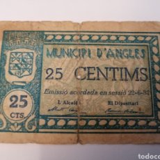 Billetes locales: ANGLÉS. GIRONA. 25 CENTIMS. Lote 218156560