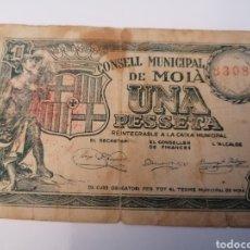 Billetes locales: MOIA. BARCELONA. 1 PESSETA. Lote 218273466