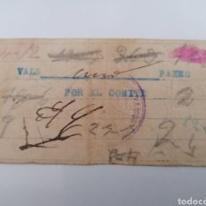 Billetes locales: PEÑALSORDO. BADAJOZ. VALE UN PAN. COMITE, CNT AIT. SINDICATO UNICO TRABAJADORES. Lote 218915001