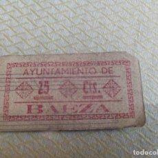 Billetes locales: BILLETE LOCAL DE 25CTS AYUNTAMIENTO DE BAEZA (JAEN) GUERRA CIVIL MIREN FOTOS. Lote 219164830