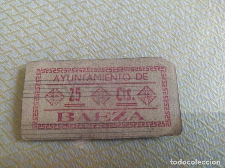 Billetes locales: BILLETE LOCAL DE 25CTS AYUNTAMIENTO DE BAEZA (JAEN) GUERRA CIVIL MIREN FOTOS - Foto 3 - 219164830