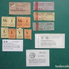 Billetes locales: LOTE DIFERENTES VALE GUERRA CIVIL Y FALTA DE MONEDA - TRANVIA FERROCARRIL RENFE AUTOBUS TREN METRO. Lote 219278633