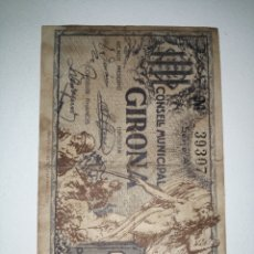 Billetes locales: R-18 COPIA BILLETE LOCAL 1 PESETA GIRONA 1937. EL DE LA FOTO. Lote 219442538
