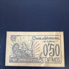 Billetes locales: R-20 COPIA BILLETE 50 CÉNTIMOS 1937 LORCA. SE MANDA EL DE LA FOTO. Lote 221258006