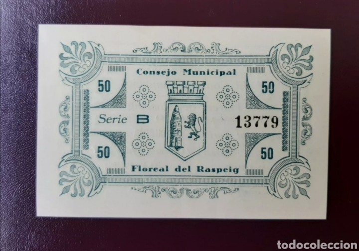 Billetes locales: Floreal del Raspeig billete local de 50 cent Serie B de LUJO - Foto 2 - 221932513