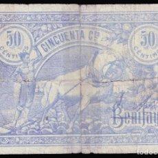 Billetes locales: BENIFAYÓ (VALENCIA) 50 CÉNTIMOS.. Lote 221961318