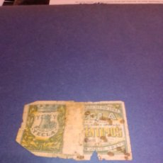 Billetes locales: BILLETE YECLA 1937 GUERRA CIVIL. Lote 222534755
