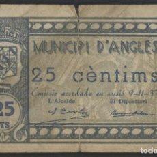 Billetes locales: J.B. BILLETE DE ANGLÈS , 25 CENTIMOS , ED.169E , T.163. Lote 222558795