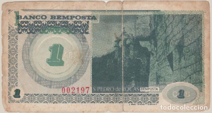 Billetes locales: 1 CORONA BEMPOSTA verde gris sin letra CIRCO MUCHACHOS Galicia Ourense Orense Billete Benposta - Foto 2 - 222663296