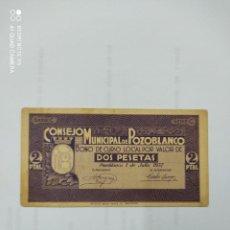 Billetes locales: BILLETE LOCAL DE DOS PESETAS DE POZOBLANCO ( CÓRDOBA ). Lote 222741471