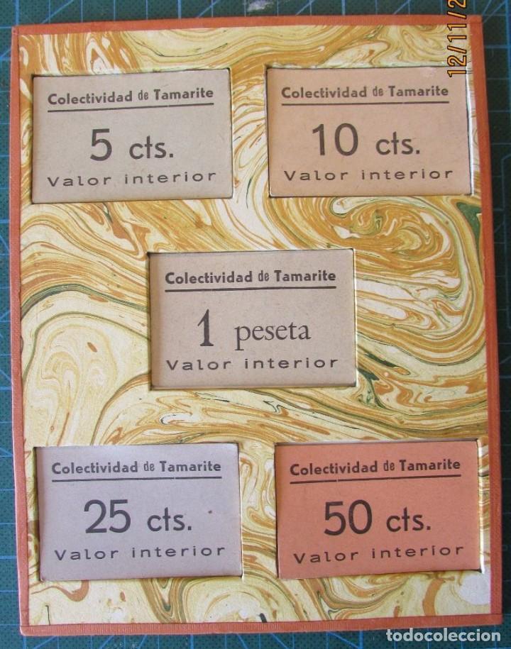 5 MONEDAS CARTÓN. COLECTIVIDAD DE TAMARITE DE LITERA (Numismática - Notafilia - Billetes Locales)
