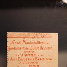 Billetes locales: AJUNTAMENT SANT JUST D ESVERN. BARCELONA .GUERRA CIVIL. Lote 225824960