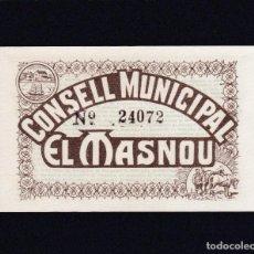 Billetes locales: EL MASNOU (BARCELONA) 50 CENTIMOS - SIN CIRCULAR. Lote 233520895