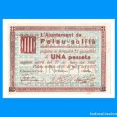 Billetes locales: PALAU-SOLITÀ BILLETE DE 1 PTA T-2030 ESCASO EBC+. Lote 230993870