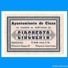 Billetes locales: CIEZA (MURCIA) 50 CTS EBC+. Lote 233439615