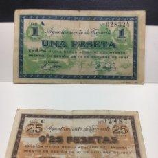 Billetes locales: BILLETES MUNICIPAL AYUNTAMIENTO TAMARITE. Lote 237065805