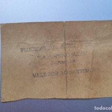 Billetes locales: BILLETE DE FUERZAS DEL AIRE, LA HISPANO SUIZA-BARCELONA. VALE 10 CTS. GUERRA CIVIL. Lote 237547360