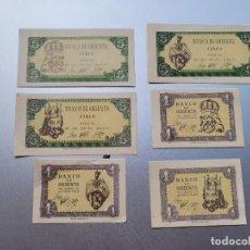 Billetes locales: BANCO DE ORIENTE.REYES MAGOS. POSTGUERRA 6 VALORES. Lote 237554360