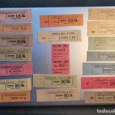 Billetes locales: LOTE DE 20 VALES CATALANES DE LA GUERRA CIVIL. TODOS DIFERENTES. Lote 238074830