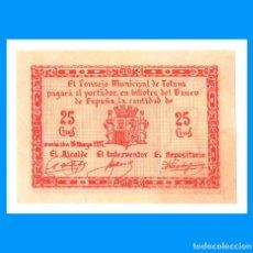 Billetes locales: TOTANA (MURCIA) SERIE DE 4 BILLETES EBC+ 25, 50 CTS Y 1, 2 PTAS. Lote 240085230