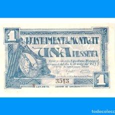 Billetes locales: MONTGAT (BARCELONA) SERIE DE 2 BILLETES SC- 1 PTA Y 50 CTS. Lote 240516825