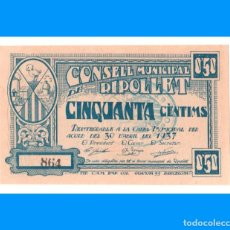 Billetes locales: RIPOLLET (BARCELONA) 50 CTS PLANCHA IMPECABLE. Lote 241111990