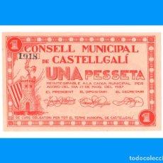 Billetes locales: CASTELLGALÍ (BARCELONA) BILLETE DE 1 PTA PLANCHA ESCASO. Lote 241409585