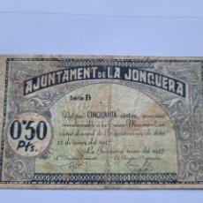 Billetes locales: AJUNTAMENT DE LA JONQUERA 50 CTS. Lote 244709415