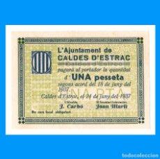 Billetes locales: CALDES D'ESTRAC (BARCELONA) 1 PTA SC-. Lote 244896215