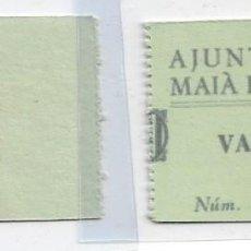 Billetes locales: 1 PESETA DEL AYUNTAMENT DE MAIÁ DE MONTCAL RRR. Lote 245247210