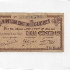 Billetes locales: 10 CENTIMOS DEL AYUNTAMENT DE FIGUERES. Lote 246188945