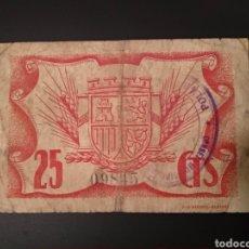Billetes locales: 25 CÉNTIMOS DE POLAN (TOLEDO). Lote 244691590