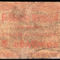 Billetes locales: ENOVA (VALENCIA) - 5 CENTIMOS 1937 - SUCIO. Lote 248235710