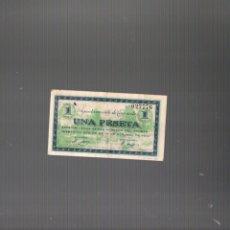 Billetes locales: GUERRA CIVIL. BILLETE DE UNA PESETA EMITIDA POR EL AYUNTAMIENTO DE TAMARITE. 10 OCTUBRE 1937.. Lote 248622435