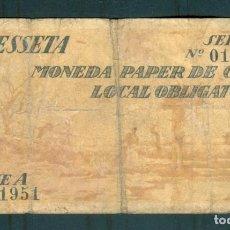 Billetes locales: NUMULITE ** B3 BILLETE AJUNTAMENT DE BANYOLES 1 PESSETA PESETA SERIE A GUERRA CIVIL 1937. Lote 253758665