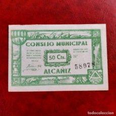 Billetes locales: BILLETE LOCAL. 50 CÉNTIMOS ALCAÑIZ. Lote 253818355