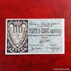 Billetes locales: BILLETE LOCAL. 25 CÉNTIMOS BAIX MONTSENY. Lote 253819040