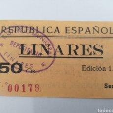 Billetes locales: LINARES. JAEN. 1937. 50 CENTIMOS.. Lote 254592295