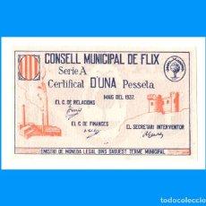 Billetes locales: FLIX (TARRAGONA) 1 PTA PLANCHA. Lote 254715690