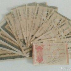 Local Banknotes: BILLETES GIJÓN1937 Y BILBAO 1936. LOTE 13 BILLETES. Lote 254757590