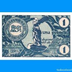 Billetes locales: MALGRAT (BARCELONA) SERIE DE 5 BILLETES PLANCHA 1 PTA 50, 25, 10 Y 5 CTS. Lote 255943365