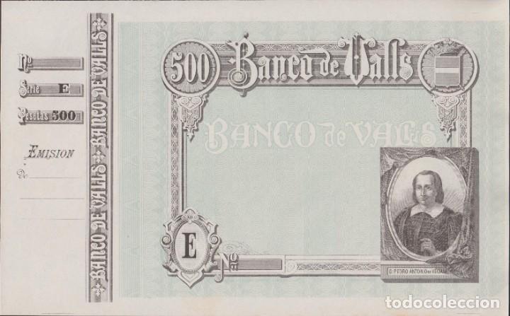 BILLETES LOCALES - BANCO DE VALLS - TARRAGONA - 500 PESETAS (SC-) (Numismática - Notafilia - Billetes Locales)