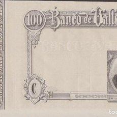 Billetes locales: BILLETES LOCALES - BANCO DE VALLS - TARRAGONA - 100 PESETAS (SC-). Lote 256113210