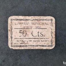 Billetes locales: BILLETE LOCAL DE ANDALUCÍA DE 50 CÉNTIMOS DE BEGIJAR (JAÉN), GUERRA CIVIL 1937. Lote 261618110