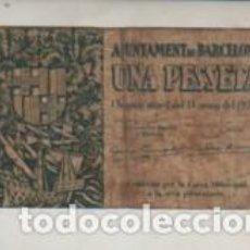 Billetes locales: BILLETE LOCAL L' AJUNTAMENT DE BARCELONA 13 DE MAIG DEL 1937 - UNA PESSETA. Lote 262032795